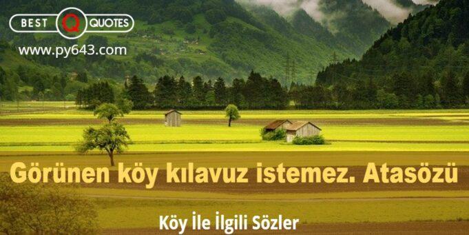 Köy İle İlgili Sözler